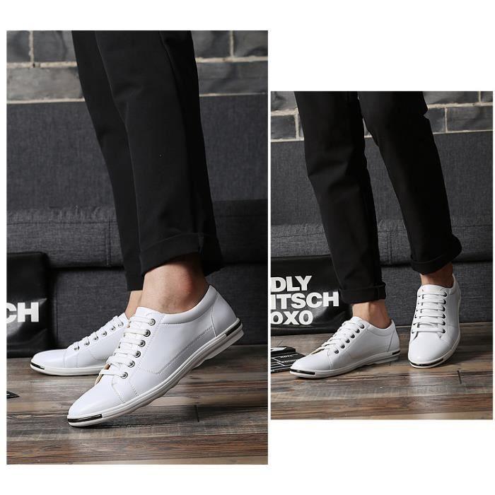 Chaussures richelieu en cuir véritable Chaussures plates occasionnelles chaussures d'affaires Plus la taille 38-48