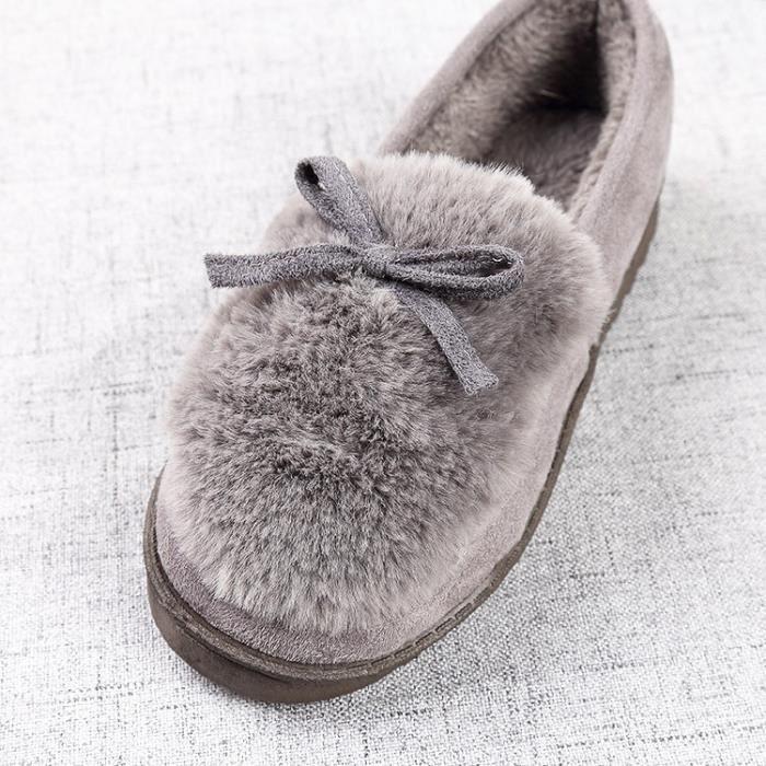 nouveau style Belle sol souple Pantoufles coton chaud femmes d'hiver Pantoufles pantoufles Casual en 3 couleurs,gris,43