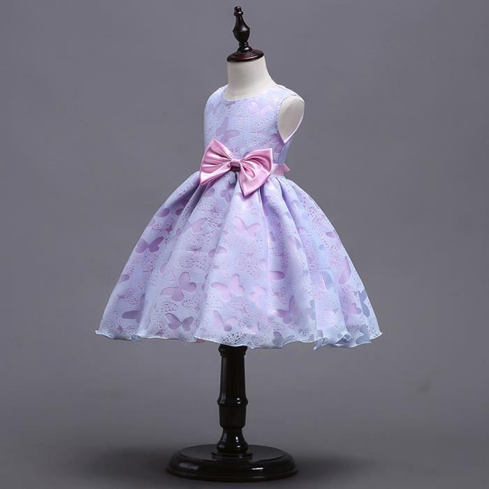 Robe Xmm80309533pp Fleur Princesse D'honneur D'anniversaire Bébé Fête Demoiselle De Mariée Fille Violet Pageant qqrBPYU