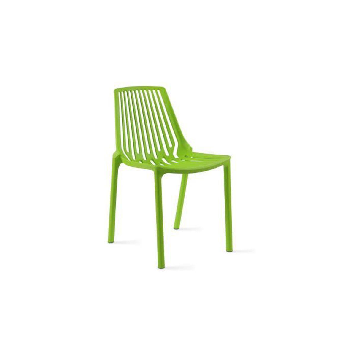 Chaise de jardin ajourée en plastique Vert - Achat / Vente salon de ...