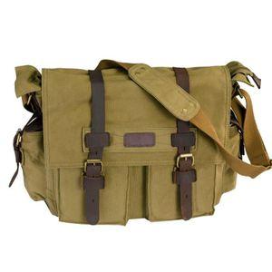 Sac besace toile sac vintage Voyage militaire Messenger pouces en 15 Z8EPx