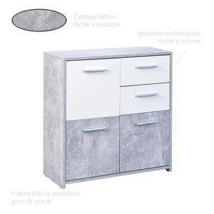 COMMODE DE CHAMBRE Commode moderne 3 portes 2 tiroirs, Commode chambr