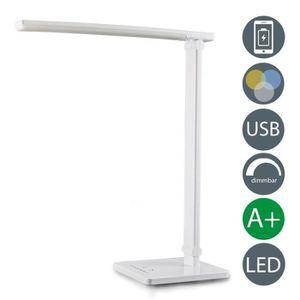 LAMPE A POSER DEL Lampe de chevet blanc variateur USB LAMPADAIRE