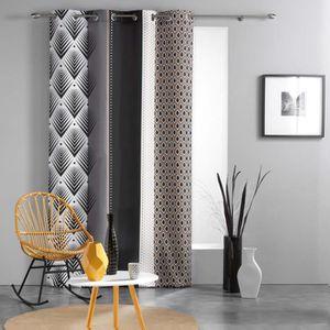 RIDEAU Rideau a oeillets 140 x 260 cm polyester imprime g