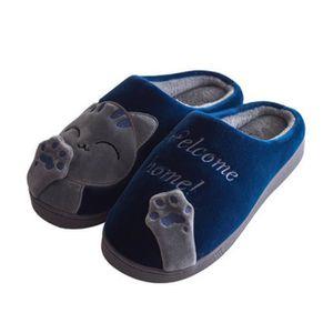 CHAUSSON - PANTOUFLE chat chausson homme Mignon Confortable chaussures