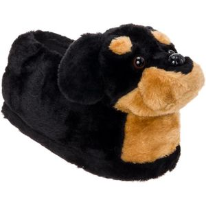 CHAUSSON - PANTOUFLE Rottweiler Slippers - Plush Dog Slippers W- Platfo