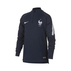 27d7e227634 TENUE DE FOOTBALL Training Top FFF Nike Squad Bleu Junior