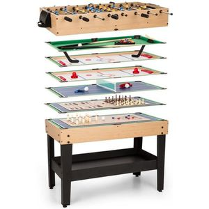 a4f39f8550173e 179€99  oneConcept Game-Star Table multijeux15 jeux babyfoot billard ping  pong MDF