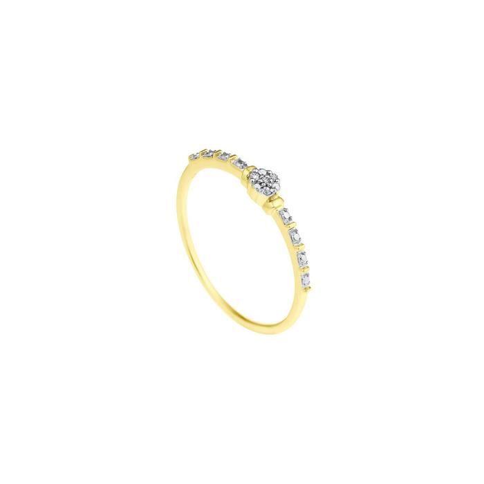 DIAMOND LANE Solitaire Or Jaune 375° et Diamants Femme