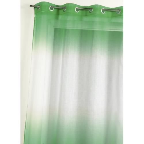 Imprimé Vert 140x240cm - 100% Polyester - 8 Œillets Ronds Argent - Vendu A L'unité - Prêt-A-PoserVOILE - VOILAGE