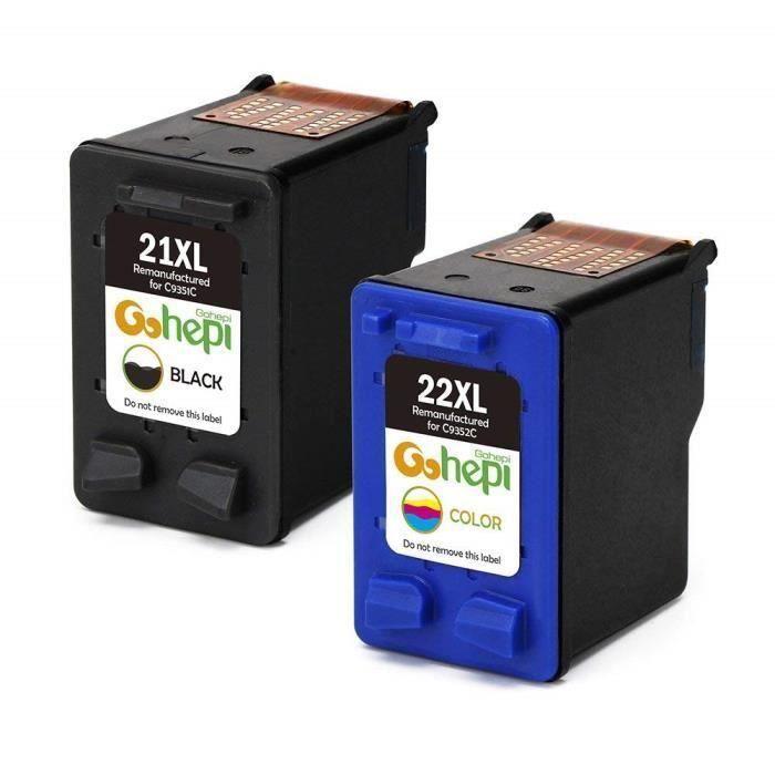 Cartouche HP 21 XL 22 XL d encre Tri-Color+Noir pour HP Fax 3180 PSC 1402  1410 1415 1417 Officejet 4315 4355 J3680 b7f0e060b26f