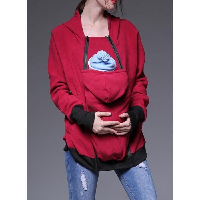 Femme Capuche Shirt Veste Maternité Tops Pull Sweat Bébé À Hoddie ZwE0tqqn