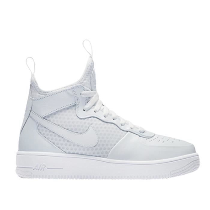 the best attitude ccc17 f296d Chaussures Nike Air Force 1 Ultraforce Mid Blanc Blanc - Achat ...