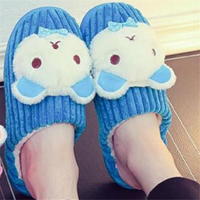 Panda Chaussons 2018 Nouvelle ModeChausson Coton chausson homme hiver chaud maison Plus Taille 40-45 oSTozJ