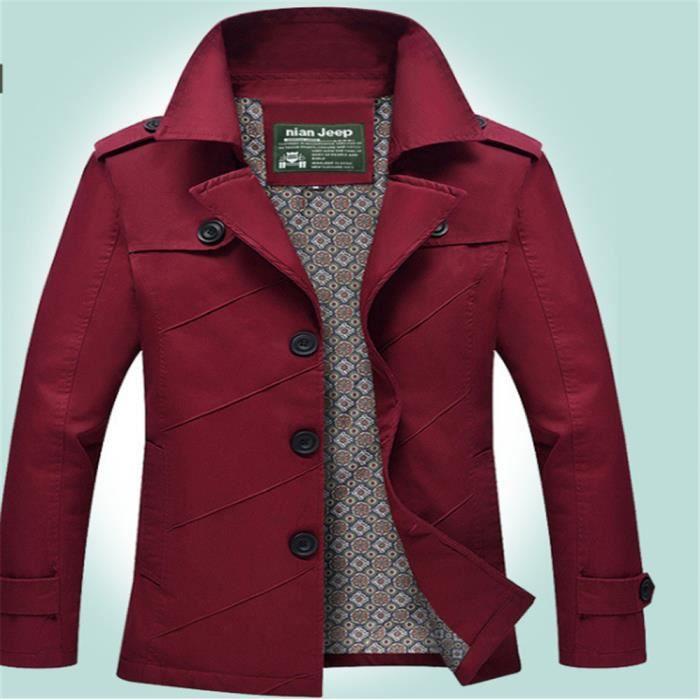 Hommes Vestes Cool Super Nouvelle Mode Les VêTements D ExtéRieur Loisirs En  Plein Air Printemps et Automne Grande Taille M-5XL fd0102d7b3be