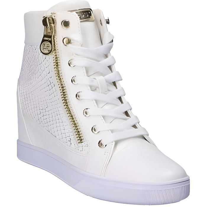 a90cbe53657 Guess Baskets Compensés Femme Active Lady Blanc Blanc Blanc - Achat ...