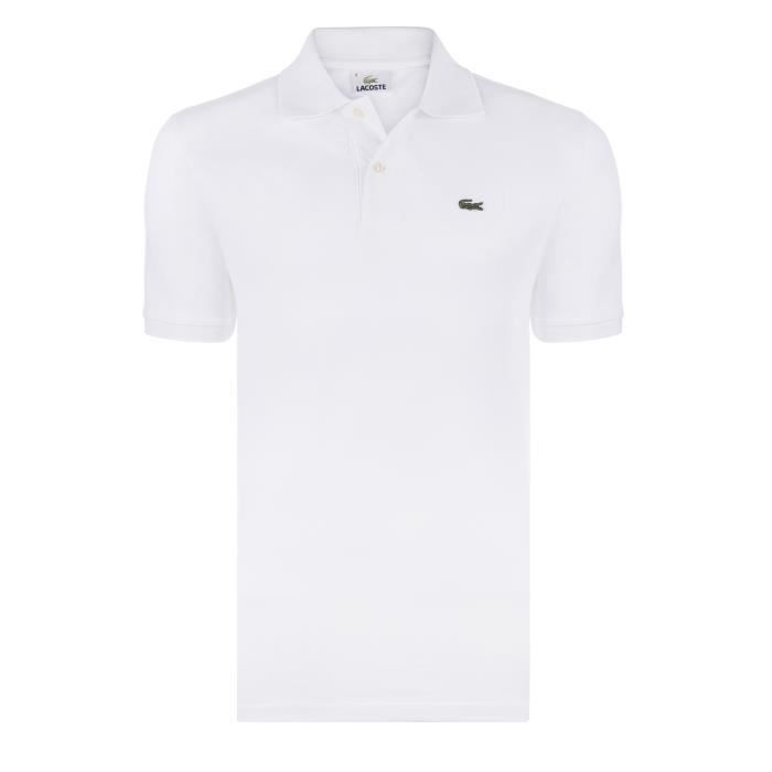 aced99aa20 Lacoste Homme Polo Blanc Regular Fit Blanc Blanc - Achat / Vente ...