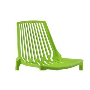 Chaise de jardin plastique verte - Achat / Vente Chaise de jardin ...