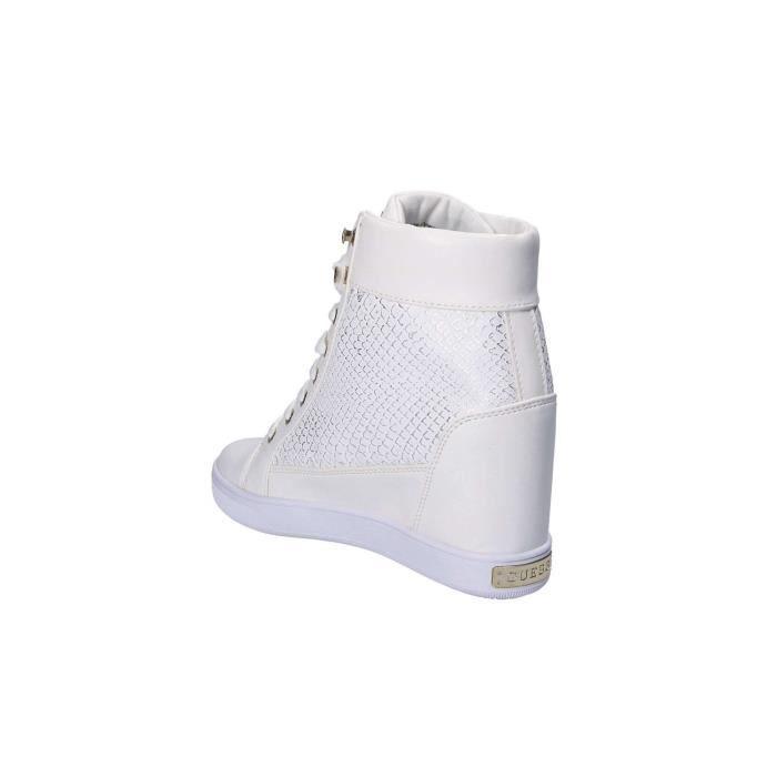 Guess Baskets Compensés Femme Active Lady Blanc j8PFJNgb