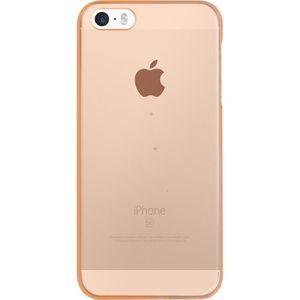 BIGBEN CONNECTED Coque Rigide iPhone 5 / 5S / SE - Translucide Orange Fluo