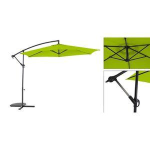 parasol de jardin vert anis achat vente pas cher. Black Bedroom Furniture Sets. Home Design Ideas