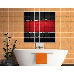 stickers carrelage salle de bain 100 cm 15 x15 - achat / vente ... - Acheter Carrelage Salle De Bain