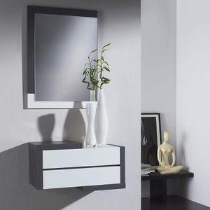 MEUBLE D'ENTRÉE Meuble d entrée moderne couleur bois gris et blanc