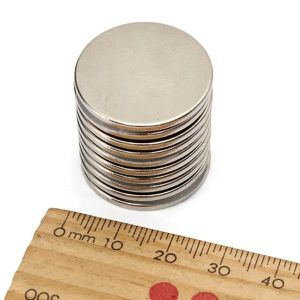 AIMANTS - MAGNETS 10Pcs 25x2mm N35 Aimant Puissant Rond Terre rare n