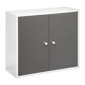 ARMOIRE DE TOILETTE Meuble haut salle bain Essenzo gris blanc