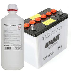PIÈCE OUTIL DE JARDIN Batterie tondeuse NS60 + acide - Produit neuf