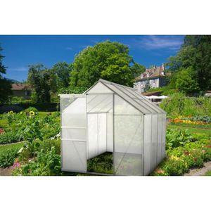 SERRE DE JARDINAGE Serre de jardin structure aluminium 4,75 m² - 250