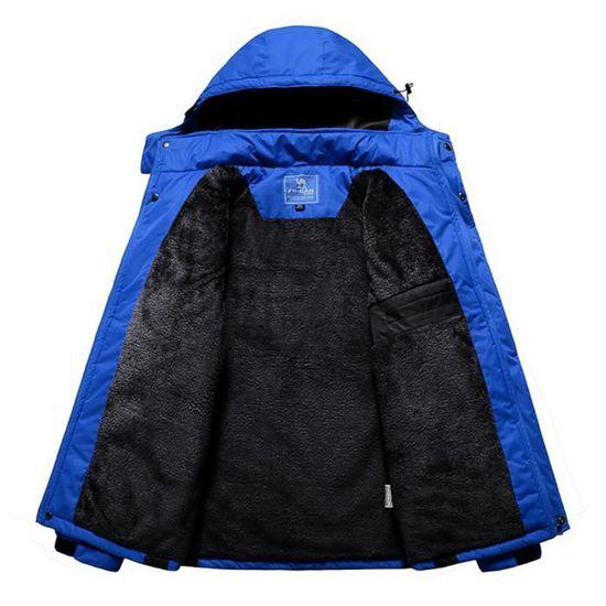 À En Capuche Amovible Cachemire D'homme Chapeau Zipper Épaississement D'hiver Manteau Rwei4084 Outdoor Sport xEwqIXOnf