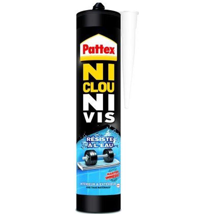 Ni clou ni vis résiste à l'eau Pattex - Cartouche 450 g