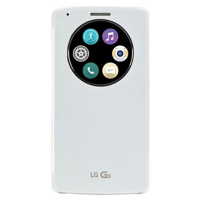LG Etui folio CCF-490G LG pour G3 S - Blanc
