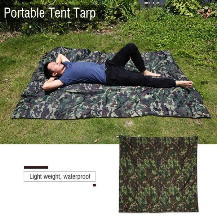 Tapis De Sol Tente Bâche De Tente Anti Pluie Anti Uv Camouflage
