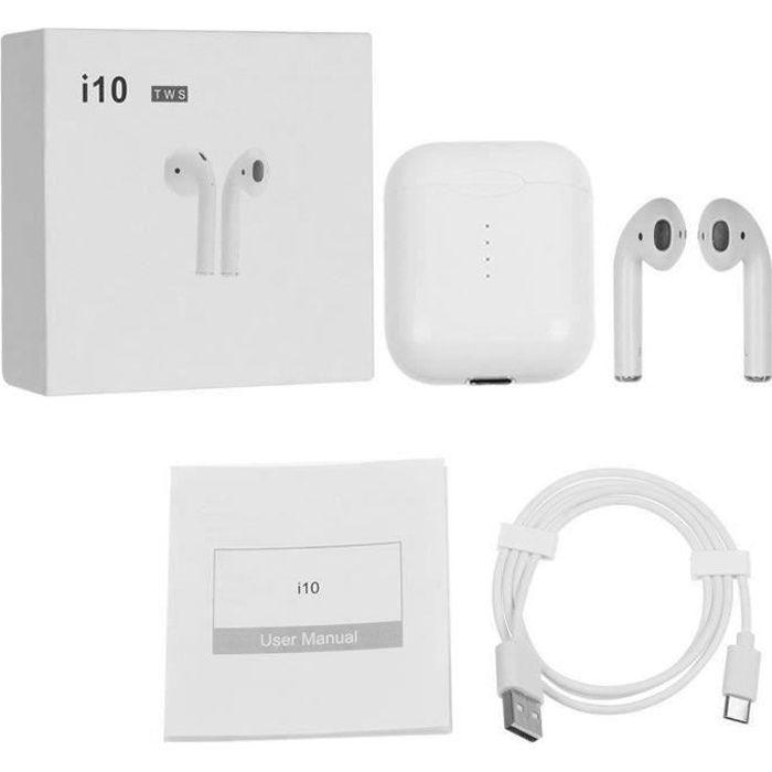 OREILLETTE BLUETOOTH I10 TWS sans fil Bluetooth écouteurs écouteurs sté