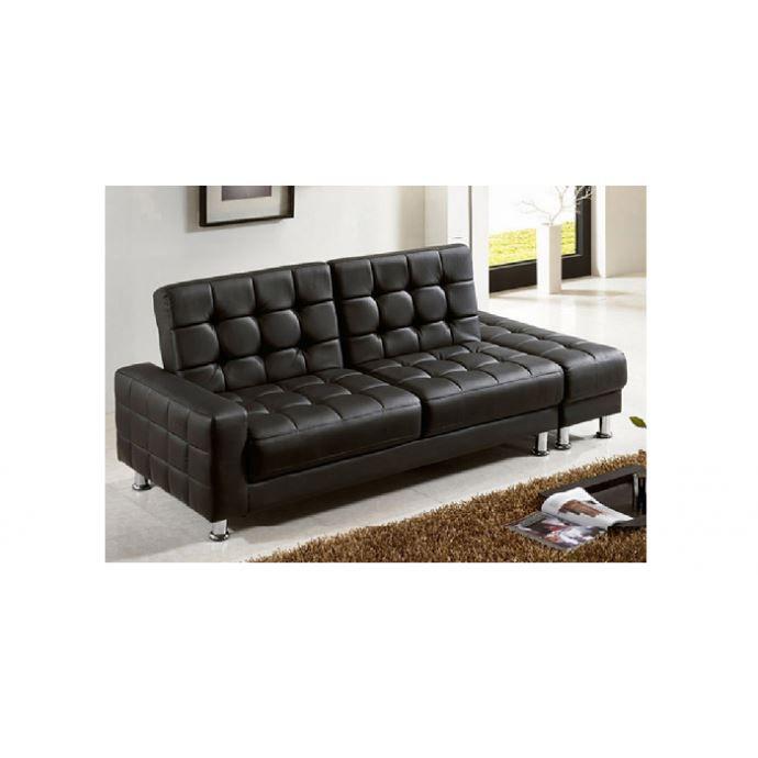 canap sofa divan le susak noir canap 3 personnes convertible et - Canape Convertible Coffre De Rangement
