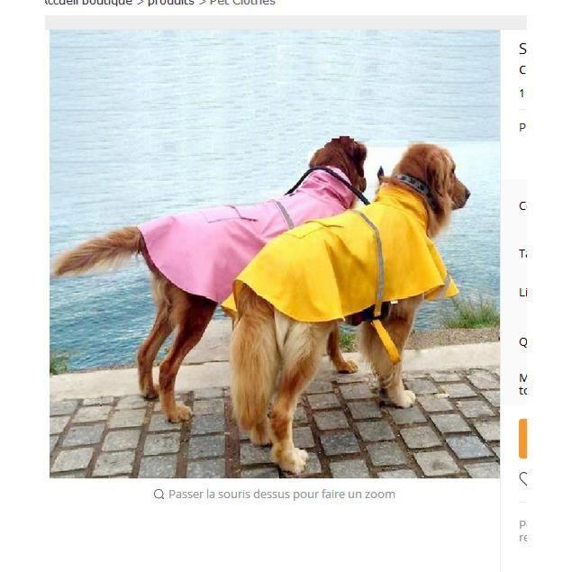 Dotopon® Smart Casual Vêtements Pour Animaux Chien Imperméable Chiens En Peluche Vip Bichon V Êtements Xs - 4xl, 6