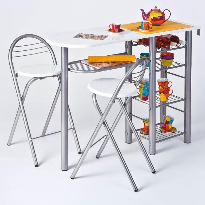 Ensemble Table Bar Et Tabouret ensemble table-bar et tabourets frida - achat / vente mange-debout