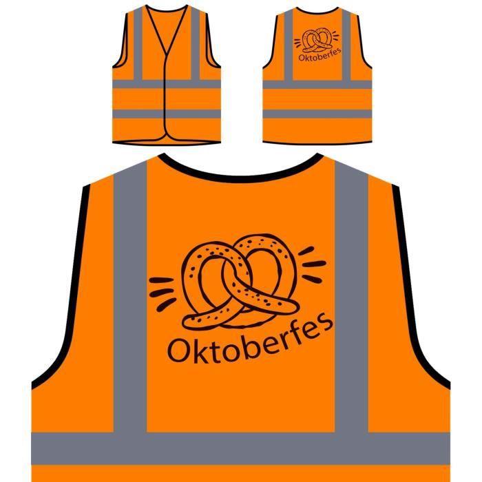 Party Orange À Personnalisée Visibilité De Beer oktoberfest Haute 2017 Protection Veste wqBE1pzn