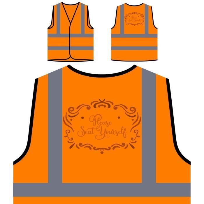 Haute De Personnalisée À Veste Toi Visibilité même Visibi Orange assied Protection wX6qUdH
