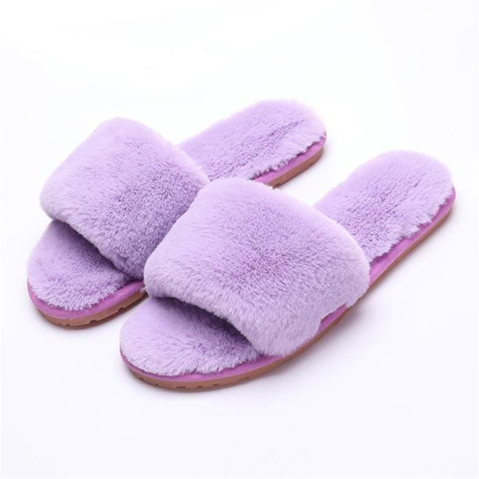 chausson hiver intérieur femmes pantoufles chaud hiver peluche Classique Série à domicile chaussures marque Plusieurs couleurs ePHTO3m