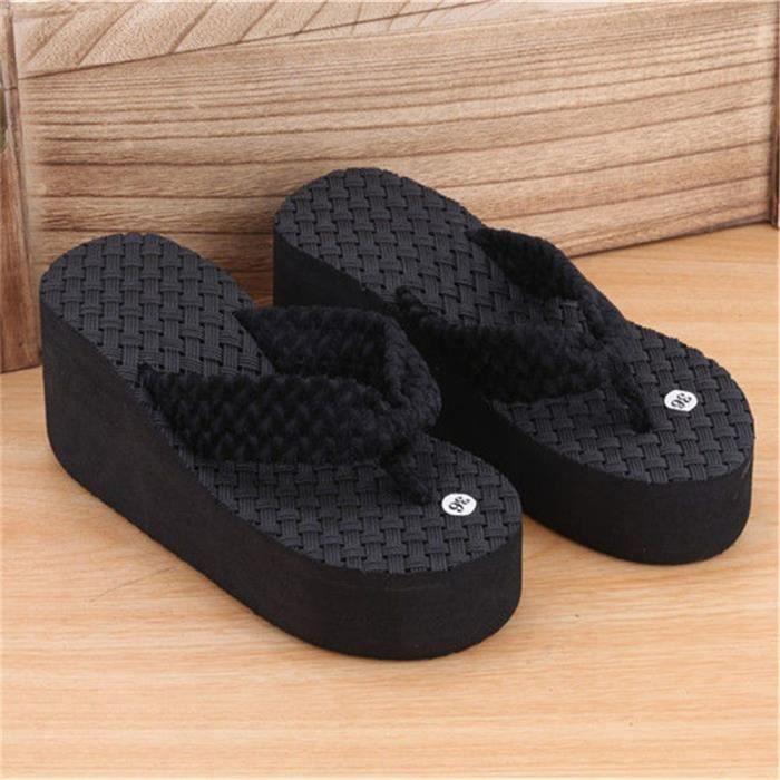Pour Sandales Cool De Femme Tongs 35 39 Sandales Plus Confortable Plage Sandales La Pantoufles 39 Femmes Couleur Qualité noir Haut wXCpqv