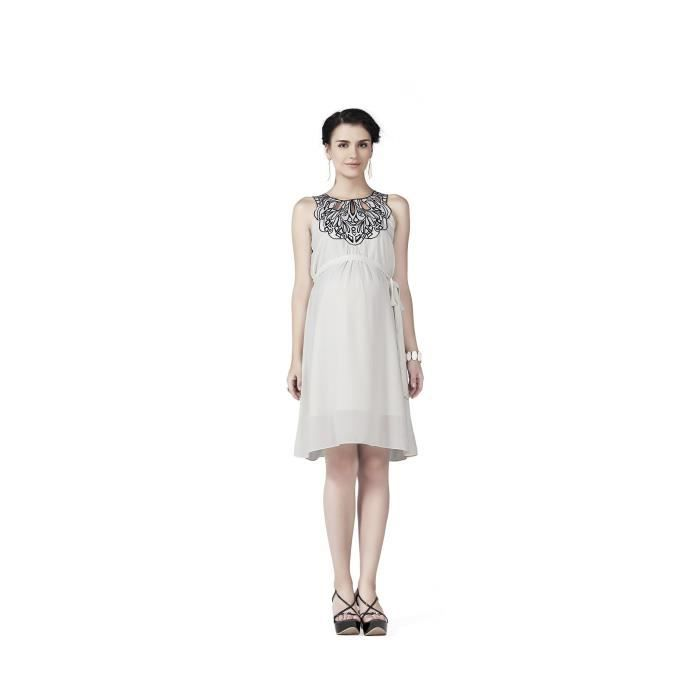 Womens Radiation Safe Cutwork Emb Neckline Dress QOMRN Taille-40