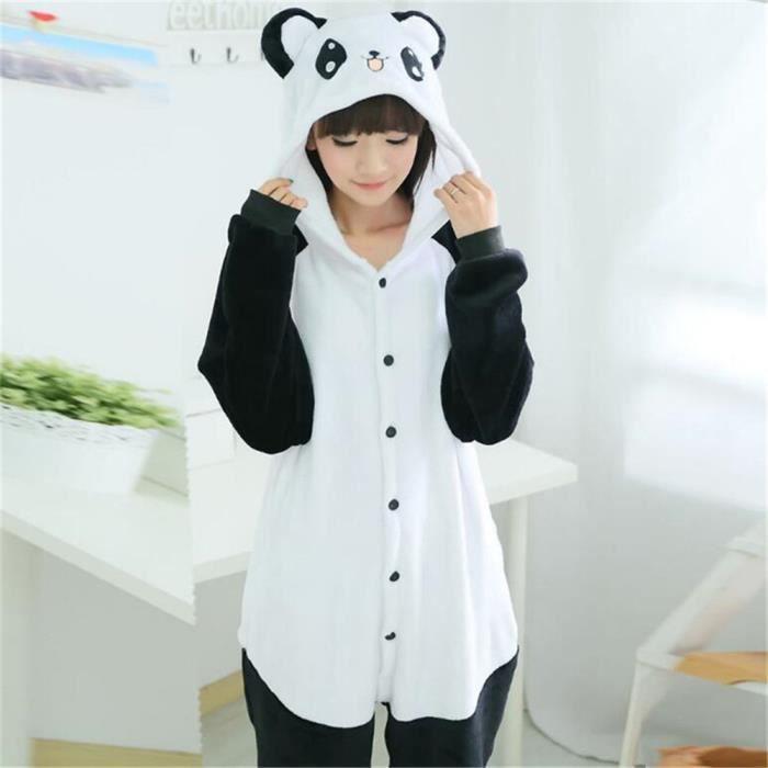 Animé Luxe Flanelle Capuche De Nouvelle Animaux Confortable Xl À Taille Cosplay Marque Dessin Grande Pyjamas Arrivee Panda 04zqF14