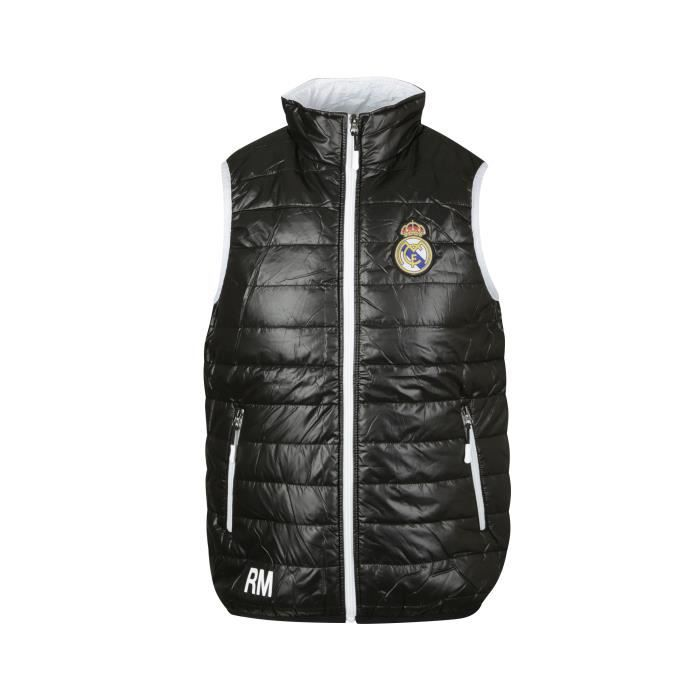 Doudoune sans manche Real Madrid Fan Noir Junior - Achat   Vente ... ca88eeeb0fa