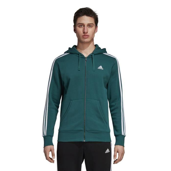 Essentials Fleece Capuche À Stripes Veste 3 Adidas rsBdCQxth
