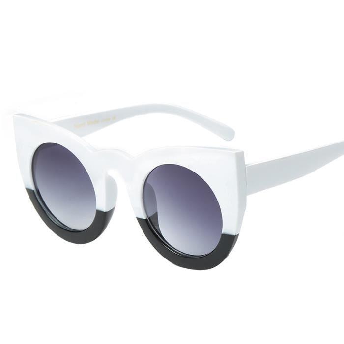 Femmes hommes Vintage rétro lunettes de mode unisexe Aviator lunettes de soleil lentille miroir blanc E