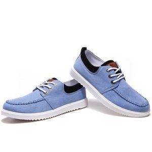 Chaussures En Toile Hommes Basses Quatre Saisons Durable CHT-XZ114Noir39 STY99