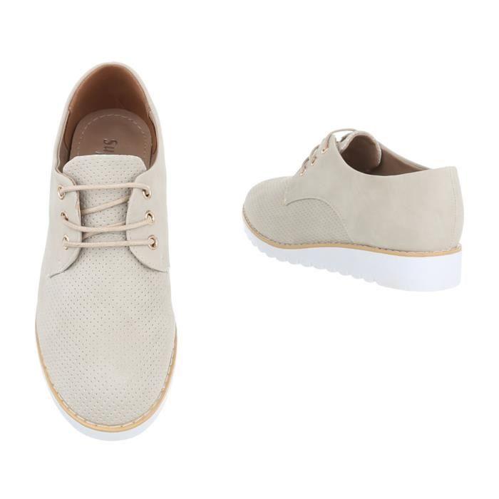 marron Chaussures Femme neurs Fl Clair Laceter beige blanc marron Beige Argent 39 noir r7BrqdxZw
